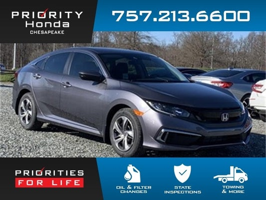 2020 honda civic lx honda dealer serving chesapeake va new and used honda dealership suffolk hampton norfolk virginia priority honda chesapeake